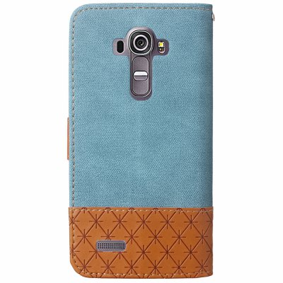 Jeans Texture Pattern Stitching PU Leather Wallet Case for LG G4Cases &amp; Leather<br>Jeans Texture Pattern Stitching PU Leather Wallet Case for LG G4<br><br>Compatible Model: LG G4<br>Mainly Compatible with: LG<br>Package Contents: 1 x Phone Case<br>Package size (L x W x H): 18.00 x 11.00 x 3.00 cm / 7.09 x 4.33 x 1.18 inches<br>Package weight: 0.1500 kg<br>Product weight: 0.1000 kg