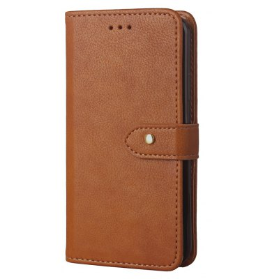 Buy BROWN Luxury PU Leather Wallet Stand Case with Rivet Buckle for iPhone X for $6.55 in GearBest store