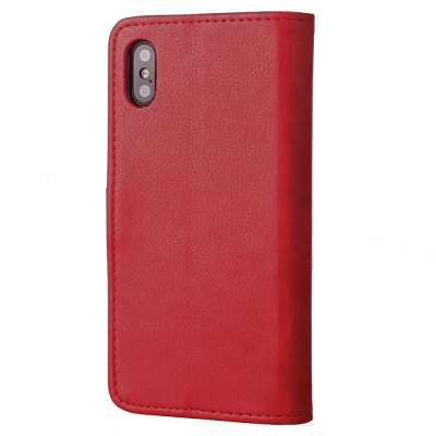 Luxury PU Leather Wallet Stand Case with Rivet Buckle for iPhone XiPhone Cases/Covers<br>Luxury PU Leather Wallet Stand Case with Rivet Buckle for iPhone X<br><br>Compatible for Apple: iPhone X<br>Features: Cases with Stand, With Credit Card Holder<br>Material: PU Leather, TPU<br>Package Contents: 1 x Phone Cover<br>Package size (L x W x H): 18.00 x 11.00 x 3.00 cm / 7.09 x 4.33 x 1.18 inches<br>Package weight: 0.1500 kg<br>Product weight: 0.1000 kg<br>Style: Vintage, Novelty