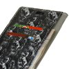 3D Texture Heavy Metal Style Flip PU Leather Wallet Case for Xiaomi Redmi Note 4X - SILVER