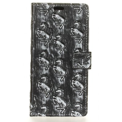 Textura 3D Heavy Metal Style Flip PU Leather Wallet Case para Xiaomi Redmi Note 4