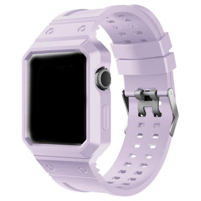 TPU Rugged Protective Case with Strap Bands for Apple Watch Series 1 / 2 Edition 42 Mm