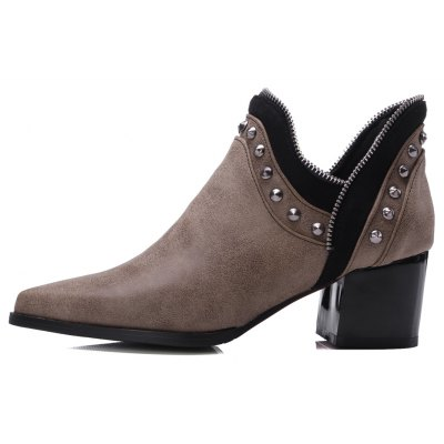 Womens Ankle Boots Chic Style Street Fashion BootsWomens Boots<br>Womens Ankle Boots Chic Style Street Fashion Boots<br><br>Boot Height: Ankle<br>Boot Tube Circumference: 26<br>Boot Tube Height: 7<br>Boot Type: Fashion Boots<br>Closure Type: Slip-On<br>Embellishment: Rivet<br>Gender: For Women<br>Heel Height: 5.5<br>Heel Height Range: Med(1.75-2.75)<br>Heel Type: Chunky Heel<br>Package Contents: 1 x Shoes<br>Pattern Type: Solid<br>Season: Winter, Spring/Fall<br>Toe Shape: Pointed Toe<br>Upper Material: PU<br>Weight: 1.6588kg