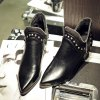 Women's Ankle Boots Chic Style Street Fashion Boots - BLACK