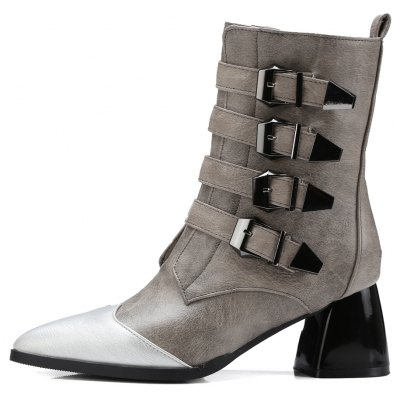 Womens Martin Boots Retro Style Pointed Toe Comfy Hasp Decor BootsWomens Boots<br>Womens Martin Boots Retro Style Pointed Toe Comfy Hasp Decor Boots<br><br>Boot Height: Ankle<br>Boot Tube Circumference: 25<br>Boot Tube Height: 19<br>Boot Type: Riding/Equestrian<br>Closure Type: Zip<br>Embellishment: Buckle<br>Gender: For Women<br>Heel Height: 6<br>Heel Height Range: Med(1.75-2.75)<br>Heel Type: Chunky Heel<br>Package Contents: 1 x Shoes<br>Pattern Type: Patchwork<br>Season: Winter, Spring/Fall<br>Toe Shape: Pointed Toe<br>Upper Material: PU<br>Weight: 1.6588kg