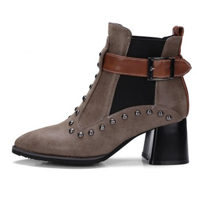 Womens Vogue Pointed Toe Rivet Ornament Casual BootsWomens Boots<br>Womens Vogue Pointed Toe Rivet Ornament Casual Boots<br><br>Boot Height: Ankle<br>Boot Tube Circumference: 26<br>Boot Tube Height: 11<br>Boot Type: Fashion Boots<br>Closure Type: Elastic band<br>Embellishment: Rivet<br>Gender: For Women<br>Heel Height: 6<br>Heel Height Range: Med(1.75-2.75)<br>Heel Type: Chunky Heel<br>Package Contents: 1 x Shoes<br>Pattern Type: Solid<br>Season: Winter, Spring/Fall<br>Toe Shape: Pointed Toe<br>Upper Material: PU<br>Weight: 1.6588kg