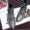 Women's Vogue Pointed Toe Rivet Ornament Casual Boots - BLACK