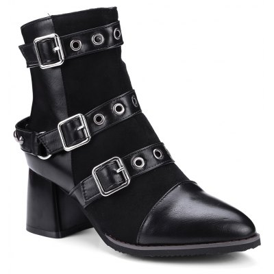 Women's Ankle Boots Hasp Decor Boots
