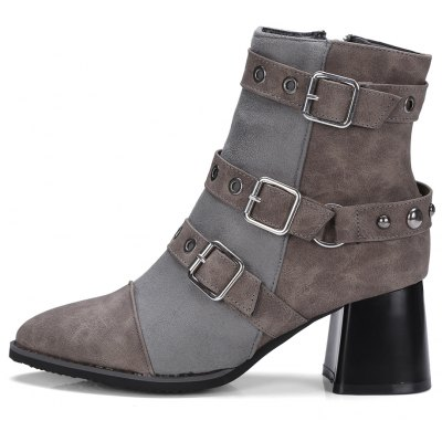 Womens Ankle Boots Hasp Decor BootsWomens Boots<br>Womens Ankle Boots Hasp Decor Boots<br><br>Boot Height: Ankle<br>Boot Tube Circumference: 26<br>Boot Tube Height: 13<br>Boot Type: Fashion Boots<br>Closure Type: Zip<br>Embellishment: Buckle<br>Gender: For Women<br>Heel Height: 6<br>Heel Height Range: Med(1.75-2.75)<br>Heel Type: Chunky Heel<br>Package Contents: 1 x Shoes<br>Pattern Type: Patchwork<br>Season: Winter, Spring/Fall<br>Toe Shape: Pointed Toe<br>Upper Material: PU<br>Weight: 1.6588kg