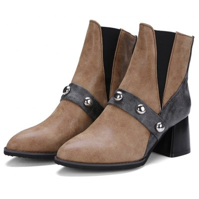 Womens Ankle Boots Comfy All Match Breathable BootsWomens Boots<br>Womens Ankle Boots Comfy All Match Breathable Boots<br><br>Boot Height: Ankle<br>Boot Tube Circumference: 25<br>Boot Tube Height: 12<br>Boot Type: Fashion Boots<br>Closure Type: Elastic band<br>Embellishment: Rivet<br>Gender: For Women<br>Heel Height: 6<br>Heel Height Range: Med(1.75-2.75)<br>Heel Type: Chunky Heel<br>Package Contents: 1 x Shoes<br>Pattern Type: Patchwork<br>Season: Winter, Spring/Fall<br>Toe Shape: Pointed Toe<br>Upper Material: PU<br>Weight: 1.6588kg