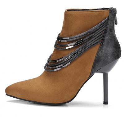 Womens Bottine Metal Chain Decor Pointed Toe Elegant Thin Heels BootsWomens Boots<br>Womens Bottine Metal Chain Decor Pointed Toe Elegant Thin Heels Boots<br><br>Boot Height: Ankle<br>Boot Tube Circumference: 25<br>Boot Tube Height: 10<br>Boot Type: Fashion Boots<br>Closure Type: Zip<br>Embellishment: Chains<br>Gender: For Women<br>Heel Height: 9<br>Heel Height Range: High(3-3.99)<br>Heel Type: Stiletto Heel<br>Package Contents: 1 x Shoes<br>Pattern Type: Patchwork<br>Season: Winter, Spring/Fall<br>Toe Shape: Pointed Toe<br>Upper Material: Flock<br>Weight: 1.6588kg