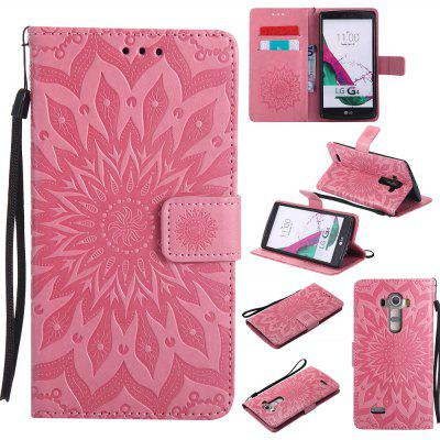 Buy PINK Yanxn Sun Flower Printing Design Pu Leather Flip Wallet Lanyard Protective Case for LG G4 for $6.48 in GearBest store