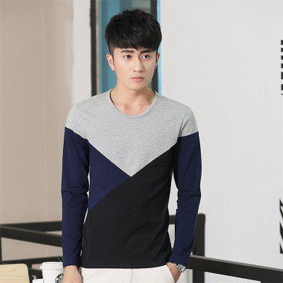 Mens Hit Color Geometric Long Sleeve Slim Round Neck T-ShirtMens Underwear<br>Mens Hit Color Geometric Long Sleeve Slim Round Neck T-Shirt<br><br>Collar: Round Neck<br>Material: Cotton<br>Package Contents: 1 x T-Shirt<br>Pattern Type: Geometric<br>Sleeve Length: Full<br>Style: Casual<br>Weight: 0.2000kg