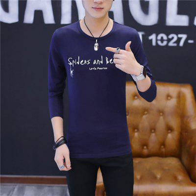 Mens Fashion Letter Printing Round Neck Long Sleeve Slim T-shirtMens T-shirts<br>Mens Fashion Letter Printing Round Neck Long Sleeve Slim T-shirt<br><br>Collar: Round Neck<br>Material: Cotton<br>Package Contents: 1 x T-shirt<br>Pattern Type: Print<br>Sleeve Length: Full<br>Style: Casual<br>Weight: 0.2000kg
