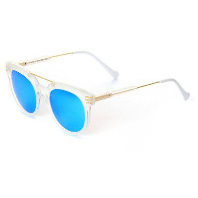 Buy WHITE FRAME+BLUE MERCURY LENS TOMYE 9902 PC and Metal Unisex Fashion Polarized Sunglasses for $15.60 in GearBest store