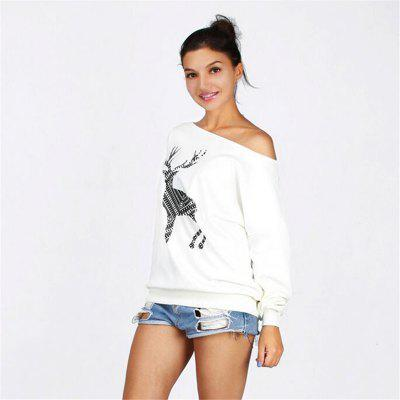 Womens Large Size Clothing Reindeer Printing Inclined Shoulde Long Sleeve SweaterTees<br>Womens Large Size Clothing Reindeer Printing Inclined Shoulde Long Sleeve Sweater<br><br>Collar: Off The Shoulder<br>Elasticity: Micro-elastic<br>Fabric Type: Broadcloth<br>Material: Cotton, Polyester<br>Package Contents: 1 x T-shirt<br>Pattern Type: Animal<br>Shirt Length: Long<br>Sleeve Length: Full<br>Style: Casual<br>Weight: 0.2200kg