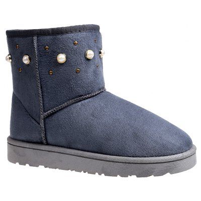 Buy OYSTER 37 The Winter Snow Boots With Thick Velvet Flat Comfortable Warm Boots Women Shoes for $45.00 in GearBest store