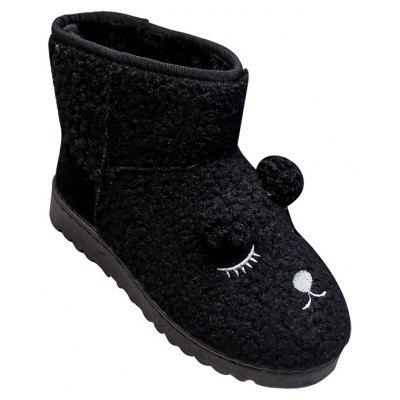 Buy BLACK 38 Winter Snow Boots Female Cotton Boots Warm Thick Boots Flat Shoes for $33.94 in GearBest store