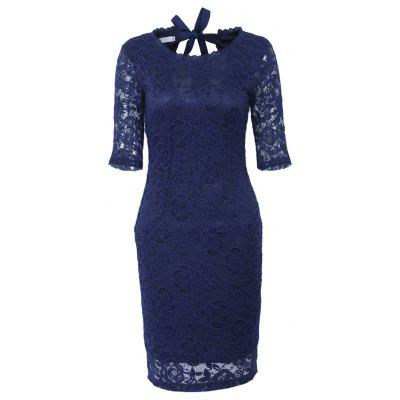 Buy DARK BLUE XL Womens Modal Solid Black Cotton Elegant Sexy One Shoulder Sheath Long Sleeve Casual Party Bodycon Pencil Dress Vestidos for $28.54 in GearBest store