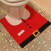 Creative Christmas Decoration 3PCS Santa Claus Toilet Cover Sets - RED