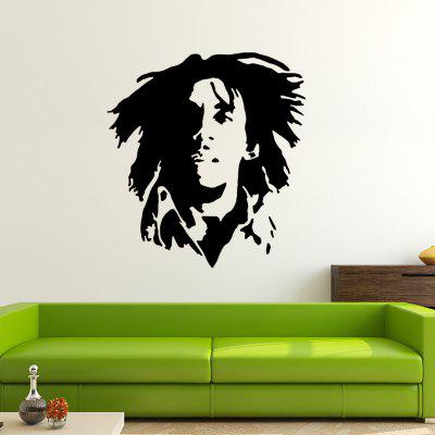DSU BOB - 12 Marley Portrait Half Face Shadow Wall Sticker