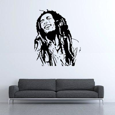 Buy DSU BOB 14 Marley Portrait Reggae Rasta Wall Sticker for Home Use, BLACK, Home & Garden, Home Decors, Wall Art, Wall Stickers for $5.25 in GearBest store