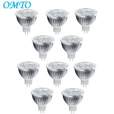 4W GU5,3 10PCS 320LM LED MR16 4 Foco de Alta Potencia