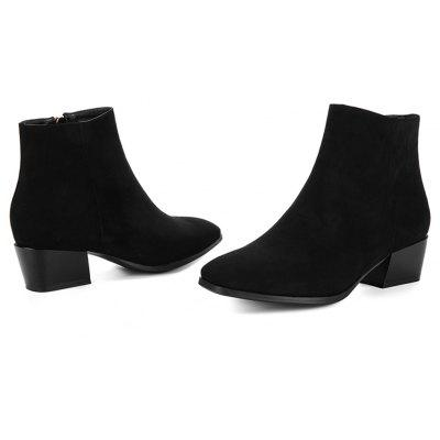 Womens Snow Boots Solid Color Low Heeled Fashion BootsWomens Boots<br>Womens Snow Boots Solid Color Low Heeled Fashion Boots<br><br>Boot Height: Ankle<br>Boot Tube Height: 11<br>Boot Type: Fashion Boots<br>Closure Type: Zip<br>Gender: For Women<br>Heel Height: 4.5<br>Heel Height Range: Med(1.75-2.75)<br>Heel Type: Chunky Heel<br>Package Contents: 1 x Shoes<br>Pattern Type: Solid<br>Season: Spring/Fall, Winter<br>Toe Shape: Square Toe<br>Upper Material: Flock<br>Weight: 1.6588kg