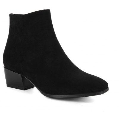Buy BLACK 34 Women's Snow Boots Solid Color Low Heeled Fashion Boots for $52.96 in GearBest store