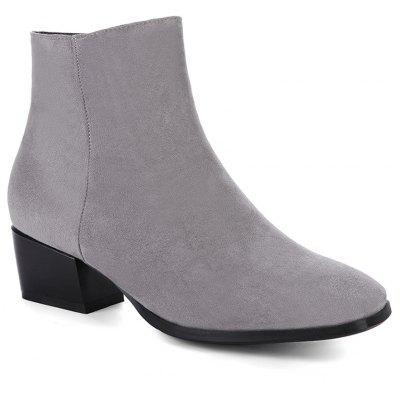 Buy GRAY 36 Women's Snow Boots Solid Color Low Heeled Fashion Boots for $52.96 in GearBest store