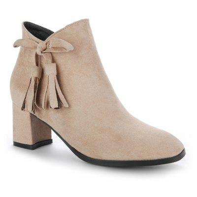 Buy APRICOT 36 Women's Bowknot Decorative All Match Boots for $57.55 in GearBest store