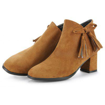 Womens Bowknot Decorative All Match BootsWomens Boots<br>Womens Bowknot Decorative All Match Boots<br><br>Boot Height: Ankle<br>Boot Tube Height: 11<br>Boot Type: Fashion Boots<br>Closure Type: Zip<br>Embellishment: Bow<br>Gender: For Women<br>Heel Height: 6<br>Heel Height Range: Med(1.75-2.75)<br>Heel Type: Chunky Heel<br>Package Contents: 1 x Shoes<br>Pattern Type: Solid<br>Season: Spring/Fall, Winter<br>Toe Shape: Round Toe<br>Upper Material: Flock<br>Weight: 1.6588kg