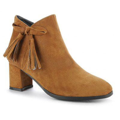Buy BROWN 36 Women's Bowknot Decorative All Match Boots for $57.55 in GearBest store