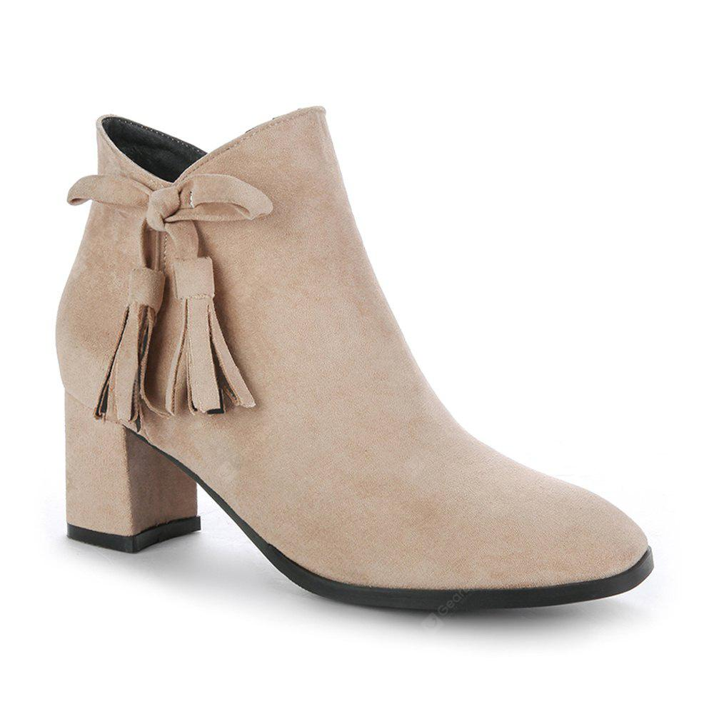 APRICOT 36 Women's Bowknot Decorative All Match Boots
