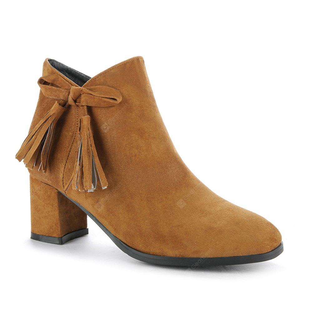BROWN 35 Women's Bowknot Decorative All Match Boots