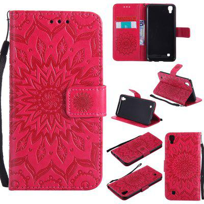 Buy RED Yanxn Sun Flower Printing Design Pu Leather Flip Wallet Lanyard Protective Case for Lg X Power for $6.48 in GearBest store