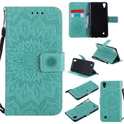 Buy GREEN Yanxn Sun Flower Printing Design Pu Leather Flip Wallet Lanyard Protective Case for Lg X Power for $6.48 in GearBest store