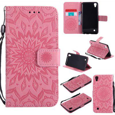 Buy PINK Yanxn Sun Flower Printing Design Pu Leather Flip Wallet Lanyard Protective Case for Lg X Power for $6.48 in GearBest store