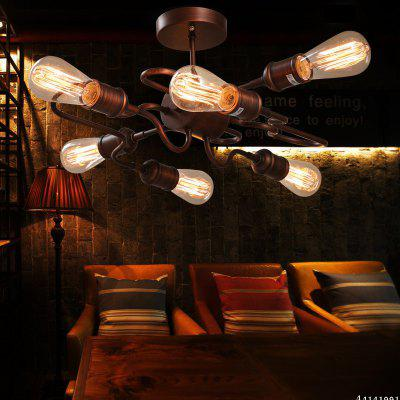 6 E27 Bulb Base Nordic Vintage Metal Ceiling Light Fixture for Living Room/BarFlush Ceiling Lights<br>6 E27 Bulb Base Nordic Vintage Metal Ceiling Light Fixture for Living Room/Bar<br><br>Battery Included: No<br>Bulb Base: E27<br>Bulb Included: No<br>Bulb Type: Incandescent<br>Certifications: CE<br>Chain / Cord Adjustable or Not: Chain / Cord Not Adjustable<br>Decoration Material: Metal<br>Dimmable: Yes<br>Features: Wrought Iron<br>Finish: Antique Rust<br>Fixture Height ( CM ): 36<br>Fixture Length ( CM ): 48<br>Fixture Material: Metal<br>Fixture Width ( CM ): 49<br>Light Direction: Downlight<br>Number of Bulb: 6 Bulbs<br>Number of Bulb Sockets: 6<br>Package Contents: 1 ? Light Fixture, 1 ? Installation Manual<br>Package size (L x W x H): 53.00 x 23.00 x 12.00 cm / 20.87 x 9.06 x 4.72 inches<br>Package weight: 3.8000 kg<br>Product size (L x W x H): 49.00 x 48.00 x 26.00 cm / 19.29 x 18.9 x 10.24 inches<br>Product weight: 3.5000 kg<br>Shade Material: Metal<br>Style: Vintage antique<br>Suggested Room Size: 20 - 30?<br>Suggested Space Fit: Living Room,Bedroom,Dining Room,Cafes,Entry,Hallway,Game Room<br>Type: Flush Mount<br>Voltage ( V ): 220V - 240V<br>Wattage per Bulb ( W ): 60