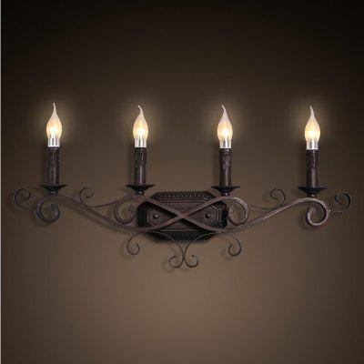 4 E14 Bulb Base Nordic Vintage Metal Art Wall Light Fixture