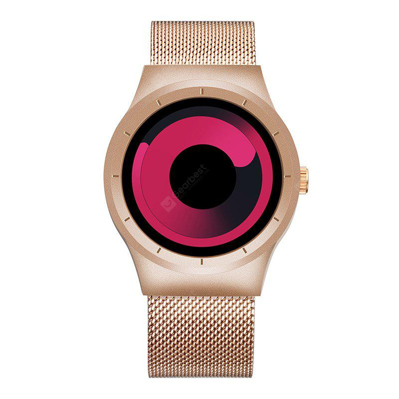 RED AND ROSE GOLD Skone 7432 1081 Sports Quartz Movement Male Watch