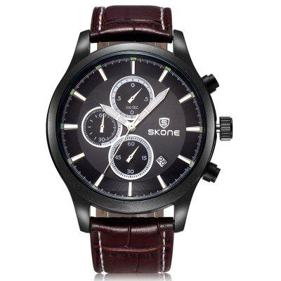 Buy BROWN Skone 2488 Dials Decoration Calendar Dispaly Male Watch for $24.70 in GearBest store