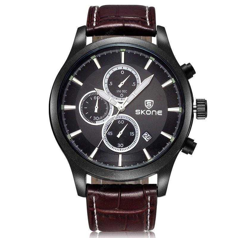 BROWN Skone 2488 Dials Decoration Calendar Dispaly Male Watch