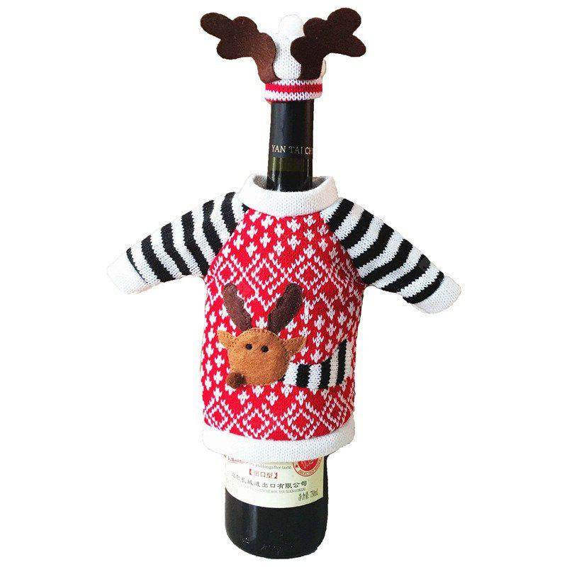 AY - hq240 Christmas Decoration Wine Elk Sweater Clothes Bottle Cover
