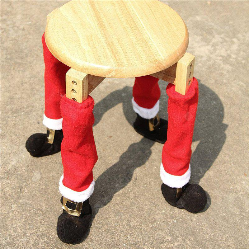 AY - hq246 4PCS Table Feet Cover Chair Feet Christmas Decoration