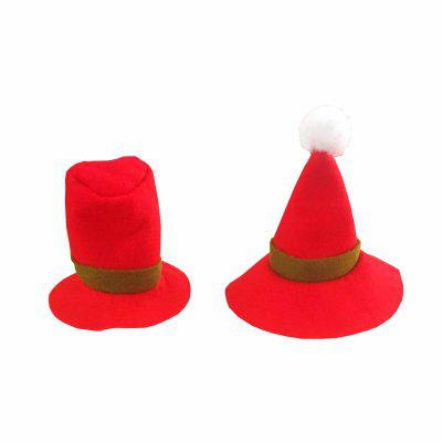 2PCS AY - hq250 Christmas Decoration Hat Wine Bottle Decorated Small Hat