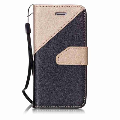 Buy BLACK AND GOLDEN Stitching Style Golden Beach Pu Phone Case for iPhone 5 / 5S / 5C / Se for $4.37 in GearBest store