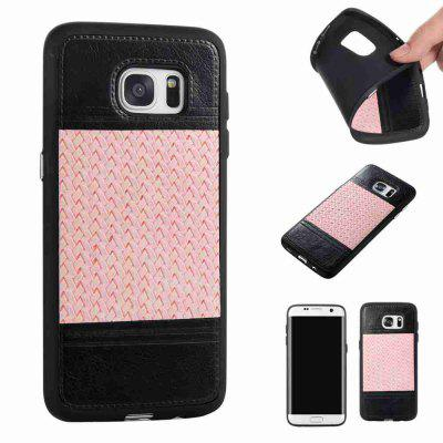 Buy MARIGOLD Plating Button Two-Color Woven Pattern TPU Paste Skin Phone Case for Samsung Galaxy S7 Edge for $4.72 in GearBest store