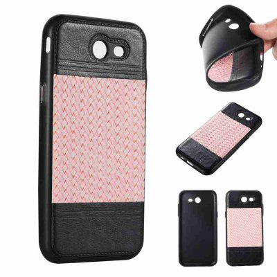 Buy MARIGOLD Plating Button Two-Color Woven Pattern TPU Paste Skin Phone Case for Samsung Galaxy J3 2017 / Prime for $4.76 in GearBest store