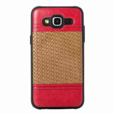 Buy LIGHT BROWN Plating Button Two-Color Woven Pattern TPU Paste Skin Phone Case for Samsung Galaxy J5 2015 for $4.65 in GearBest store